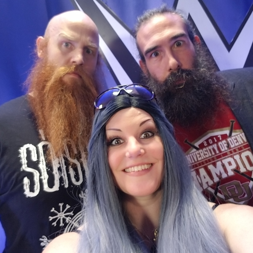 Kim Kylla with the Bludgeon Brothers