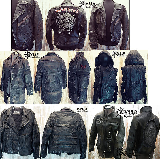 Custom Full Genuine Leather Jacket - MADE TO ORDER (please allow 2-3 months)