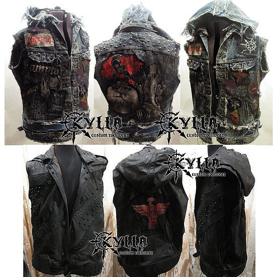 Custom WWE Bray Wyatt style vest - MADE TO ORDER- each unique -allow 2-3 months