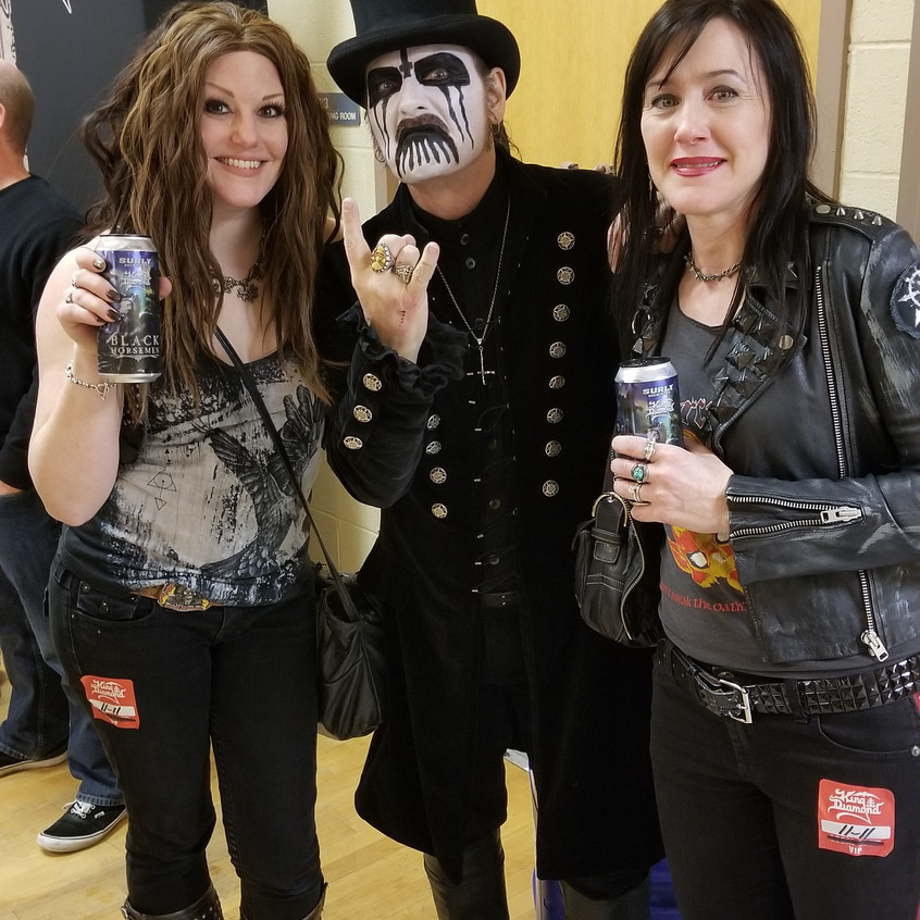 With King Diamond and my friend
