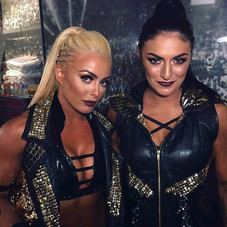 Sonya Deville and Mandy Rose of WWE in Kylla