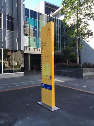Brisbane City Council FV Hub Totem Signs