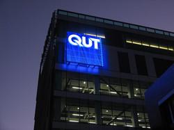 LED Illuminated QUT Sky Sign