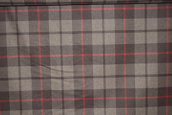 "Schumacher; ""Montana Wool Plaid"" #66662; 60.5"" W & 10.75"" VR"