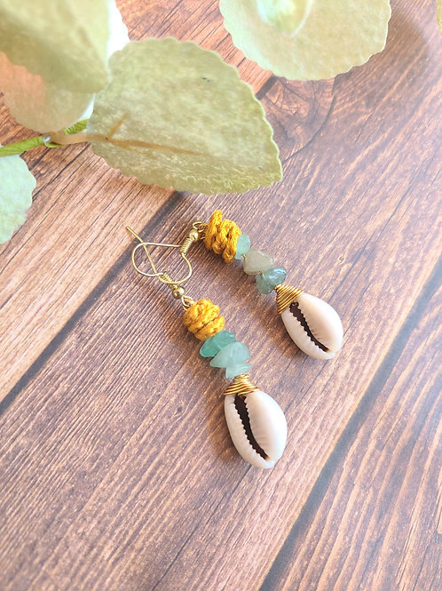 Healing Cowrie Earrings