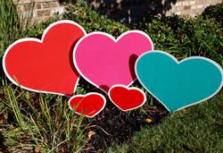 Multi Color Hearts Swag