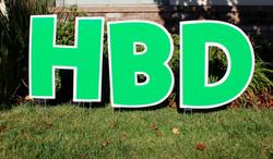 Happy Birthday GREEN Swag
