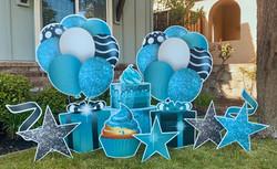 NEW! Teal Sparkle Birthday Swag