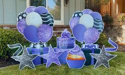 New Purple Sparkle Birthday Swag