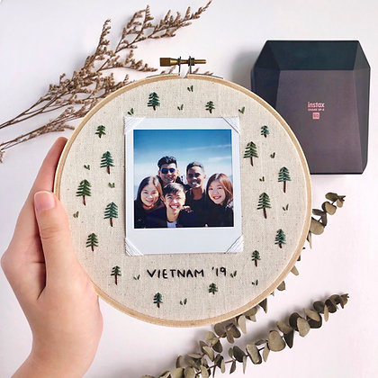 Instax Embroidery Hoop