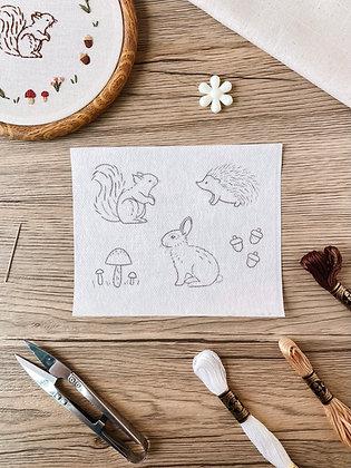 Stick & Stitch Embroidery Pattern - Forest Friends