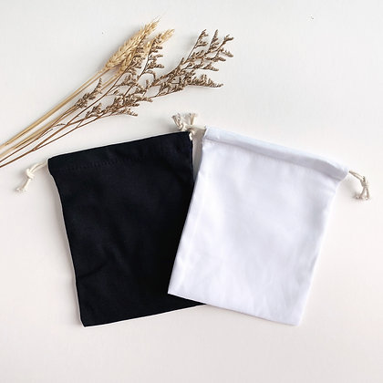 Plain Drawstring Pouch (Set of 3)