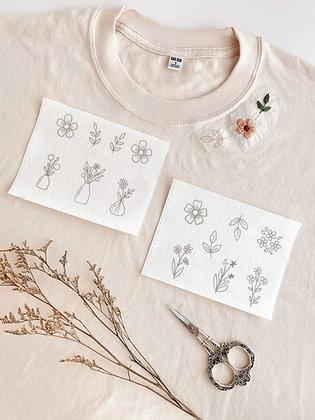 Stick & Stitch Embroidery Patterns - Floral