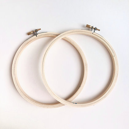 """4"""" - 8"""" Wooden Embroidery Hoop  (Set of 4)"""