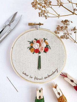 Online Introduction to Floral Embroidery Workshop (26 June)