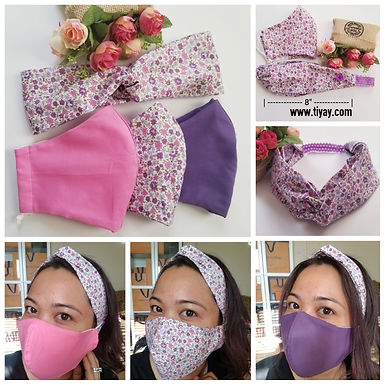 BUNDLE & SAVE! - 3 pcs Face Mask + 1 Headband