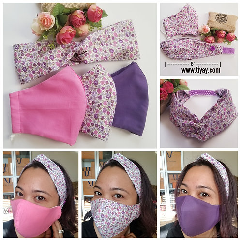 BUNDLE & SAVE! - 3 pcs Face Mask + 1 Headband