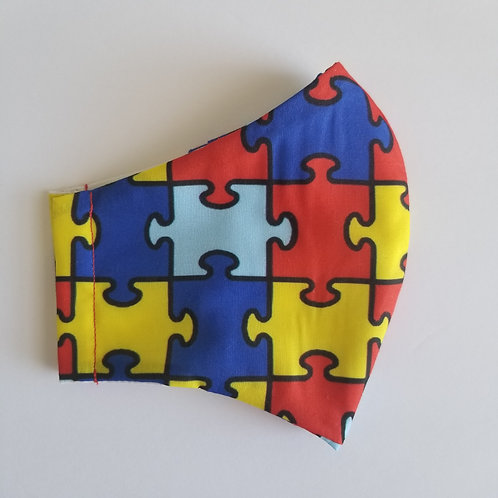 Puzzle - Face Mask with Filter Pocket