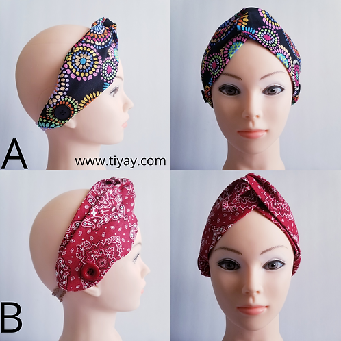 5 for $20 Turban Headbands for Face Mask