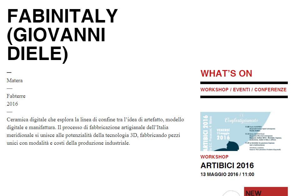 Giovanni Diele designer Triennale Design Milano Matera