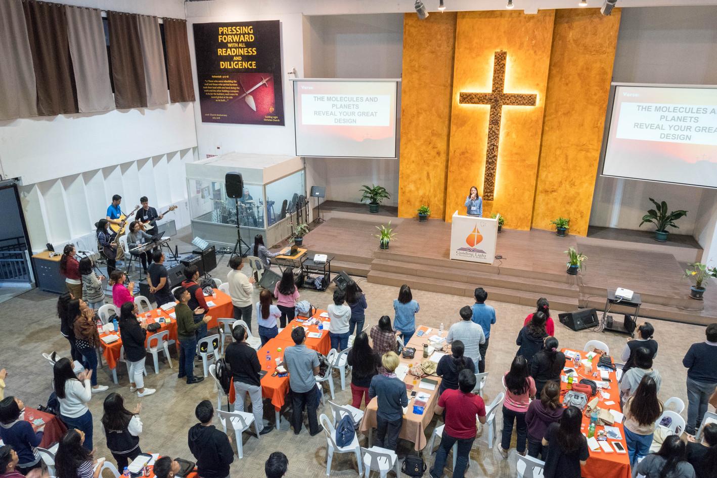 Aimee Villa Worship Leading before the last Plenary for Day 2