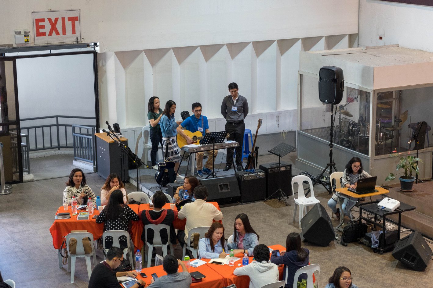 Ptr. Kito Rehearsing with the GLCC Youth Band