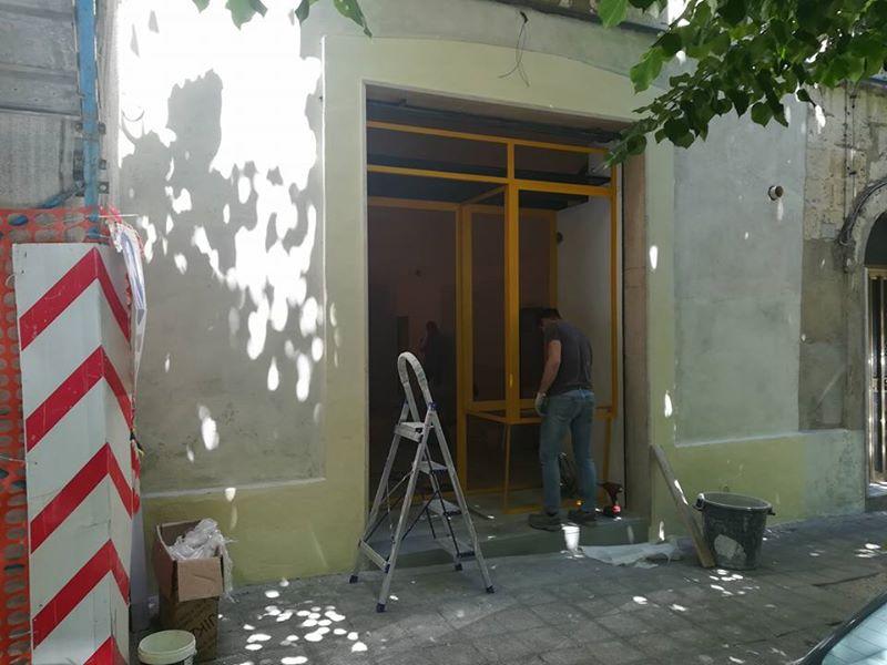 Fotografie di cantiere dello studio Terraferma in via Giuseppe Gattini 17 Matera