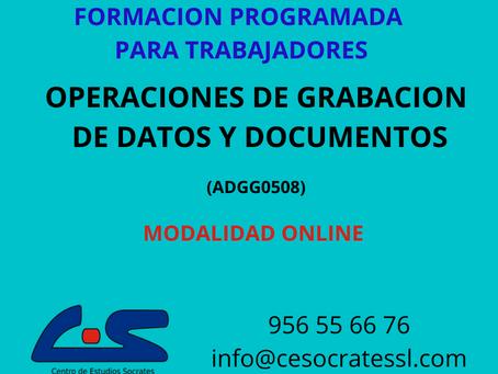 OPERACIONES DE GRABACION Y TRATAMIENTO DE DATOS Y DOCUMENTOS