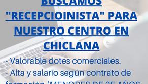 "OFERTA DE EMPLEO ""RECEPCIONISTA"""