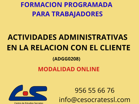 ACTIVIDADES ADMINISTRATIVAS EN LA RELACION CON EL CLIENTE
