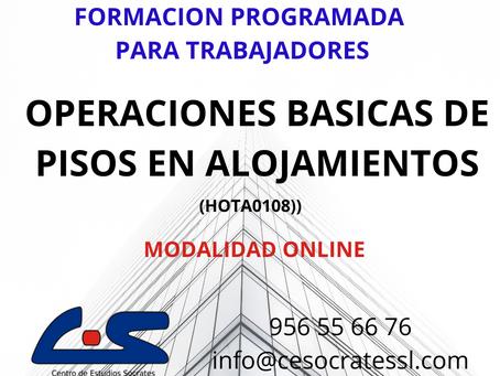 OPERACIONES BASICAS DE PISOS EN ALOJAMIENTOS