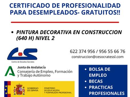 Certificado de profesionalidad EOCB0110 Pintura decorativa en construcción.
