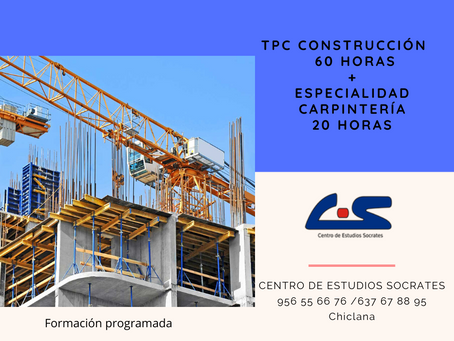 TPC CONSTRUCCION y especialidad en Carpinteria