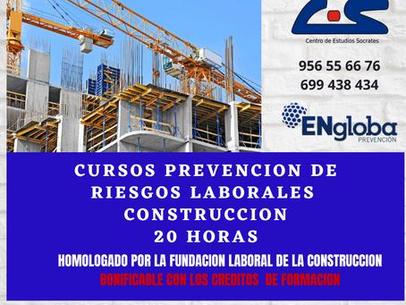 CURSO DE PREVENCIÓN DE RIESGOS LABORALES EN CONSTRUCCIÓN