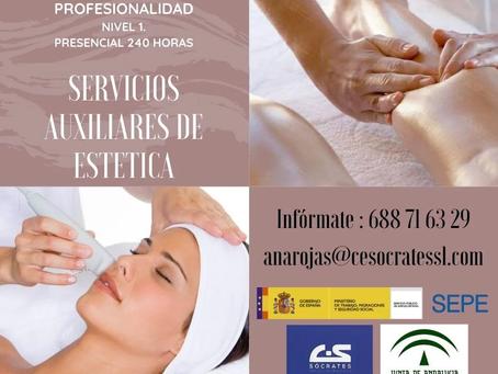 """Certificado de Profesionalidad """"Servicios Auxiliares de Estética"""""""