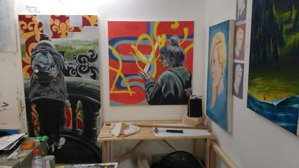 Open Studios, Sion Hill, Bath Spa University, March 2016.