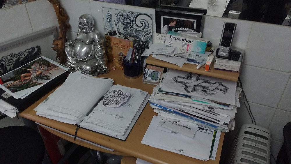 Sketches and the 'Big Black book'.