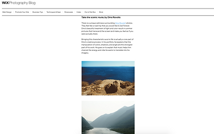 Wix photography travel blog