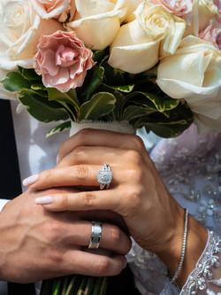 Diamond bouquet wedding