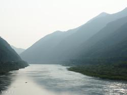 Serene lake in Korea