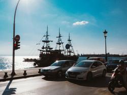 Pirate ship in Thessalonica