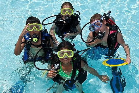 PADI Bubble Maker program where children experience scuba diving