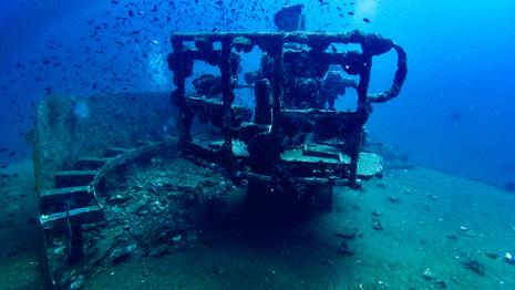 HTMS PRAB Wreck dive site
