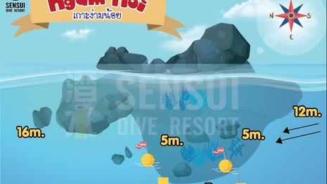 Koh Ngam Noi dive site map