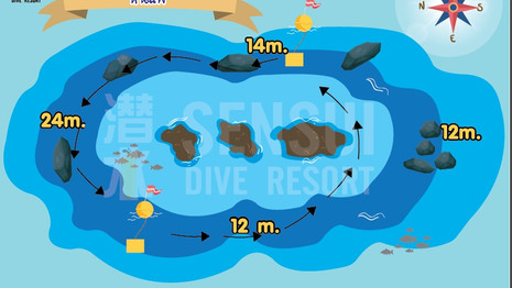 Hin Pae dive site map (top)