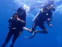 Kids diving in Koh Tao