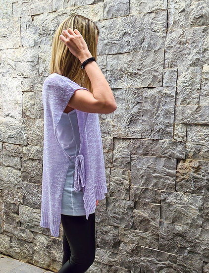 Knit tunic open sided