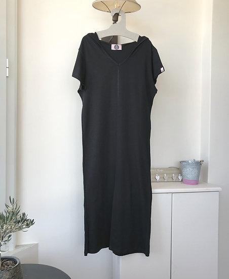 Κοντομάνικο φόρεμα με κουκούλα