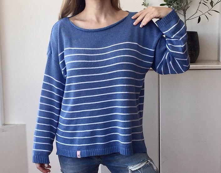 Mariniere knit blouse