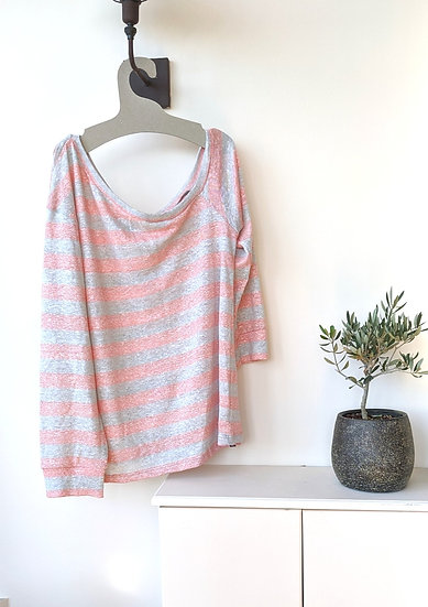 Off shoulder μακρυμάνικη μπλούζα oversized